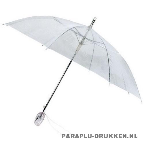 Doorzichtige tulp paraplu bedrukken TLP-4 transparant