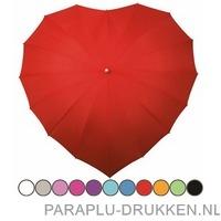 Hartjes paraplu bedrukken LR-8 bruiloft