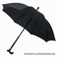 luxe paraplu, paraplu bedrukken, paraplu bedrukt, paraplu met logo, paraplu met opdruk, wandelstok paraplu, WS-01