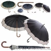 Paraplu bedrukken goedkoop houtenstok luxe