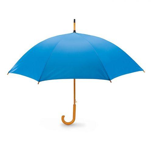 Snel paraplu houten stok bedrukken aqua