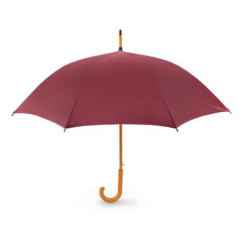 Snel paraplu houten stok bedrukken bordeaux