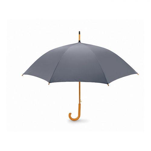 Snel paraplu houten stok bedrukken grijs