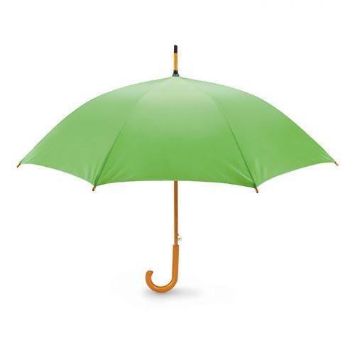 Snel paraplu houten stok bedrukken groen lime