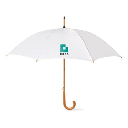 Snel paraplu houten stok bedrukken met logo
