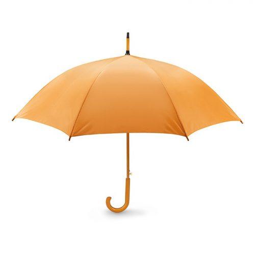 Snel paraplu houten stok bedrukken oranje