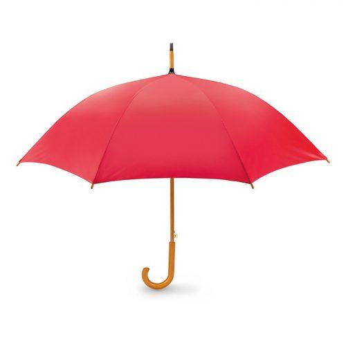 Snel paraplu houten stok bedrukken rood