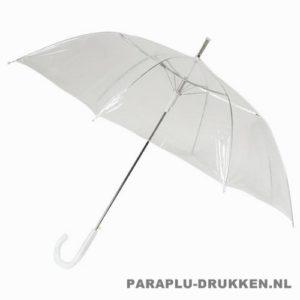 transparante paraplu, paraplu bedrukken, paraplu bedrukt, paraplu met logo, paraplu met opdruk, LA-20