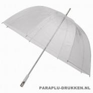 transparante paraplu, paraplu bedrukken, paraplu bedrukt, paraplu met logo, paraplu met opdruk, RD-2