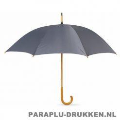 Paraplu bedrukken, snel, houten krul, grijs