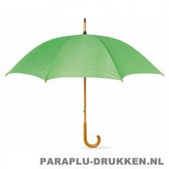 Paraplu bedrukken, snel, houten krul, lichtgroen