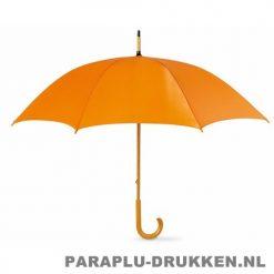Paraplu bedrukken, snel, houten krul, oranje