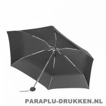 Paraplu bedrukken, snel, mini, opvouwbaar, zwart