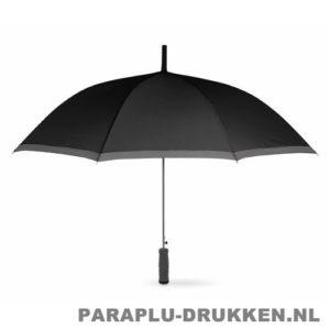 Paraplu bedrukken, snel, reflectie, zwart