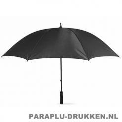 Paraplu bedrukken, snel, windbestendig, zwart