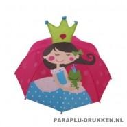 Kinderparaplu bedrukken Prinses en kikker, kinderparaplu bedrukken, kinderparaplu met logo, kinderparaplu goedkoop, disney kinderparaplu