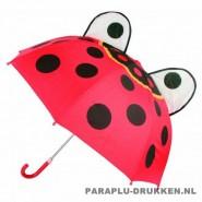 Kinderparaplu bedrukken met logo lieveheersbeestje, kinderparaplu bedrukken, kinderparaplu met logo, kinderparaplu goedkoop, disney kinderparaplu