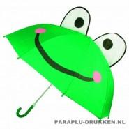 Kinderparaplu bedrukt kikker, kinderparaplu bedrukken, kinderparaplu met logo, kinderparaplu goedkoop, disney kinderparaplu