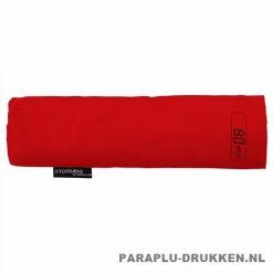 Storm paraplu Stormini opvouwbaar rood hoesje