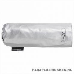 Storm paraplu Stormini opvouwbaar zilver hoesje