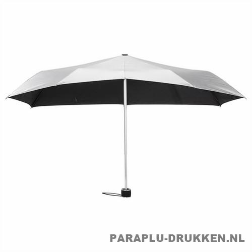 Storm paraplu Stormini opvouwbaar zilver voor