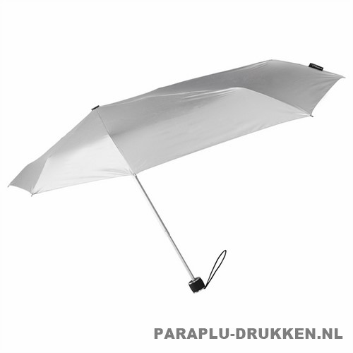 Storm paraplu Stormini opvouwbaar zilver zij