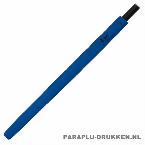 Storm paraplu stormaxi bedrukken blauw hoes