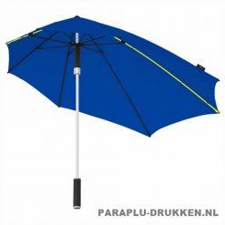Storm paraplu stormaxi bedrukken blauw logo