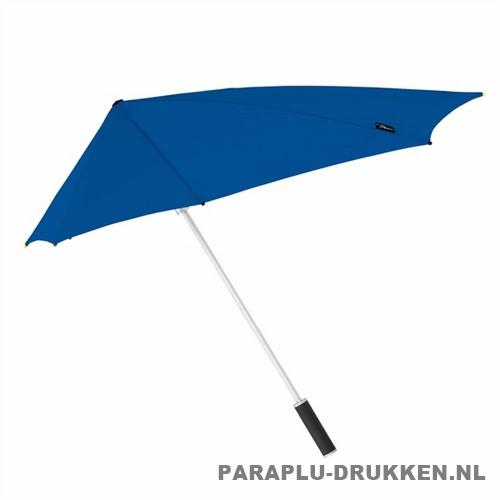 Storm paraplu stormaxi bedrukken blauw zij