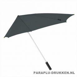 Storm paraplu stormaxi bedrukken grijs zij
