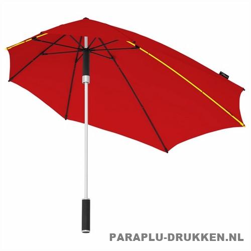 Storm paraplu stormaxi bedrukken rood logo