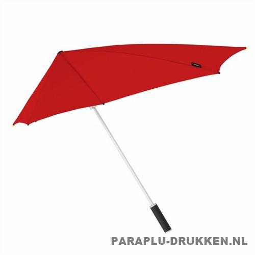 Storm paraplu stormaxi bedrukken rood zij