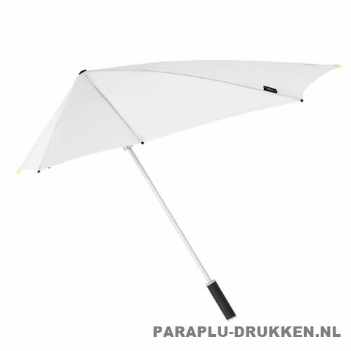 Storm paraplu stormaxi bedrukken wit zij