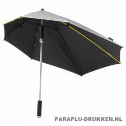 Storm paraplu stormaxi bedrukken zilver logo