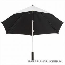 Storm paraplu stormaxi bedrukken zilver onder