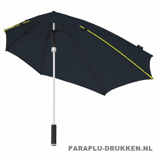 Storm paraplu stormaxi bedrukken zwart logo