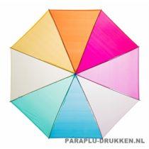 GP-27 Transparante paraplu regenboog bedrukte, paraplu bedrukken