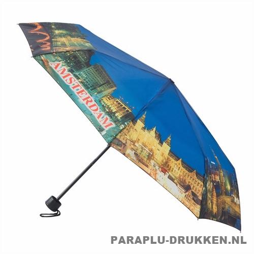 Opvouwbare paraplu Amsterdam bedrukken LF-101 dag print