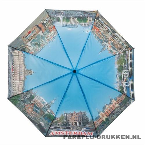 Opvouwbare paraplu Amsterdam bedrukken LF-101 dag