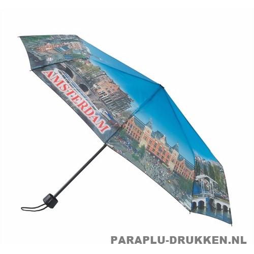 Opvouwbare paraplu Amsterdam bedrukken LF-101 nacht avond