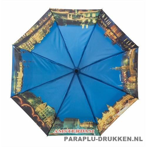 Opvouwbare paraplu Amsterdam bedrukken LF-101 nacht