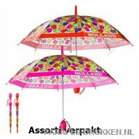 Transparante paraplu bedrukken, LA-30-ASS, holland paraplu print, tulp paraplu goedkoop