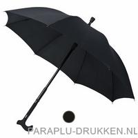Luxe wandelstok paraplu bedrukken WS-01
