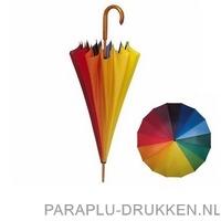 Regenboog paraplu bedrukken LR-80