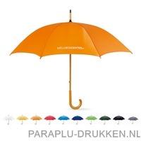 Snel paraplu houten krul bedrukken goedkoop
