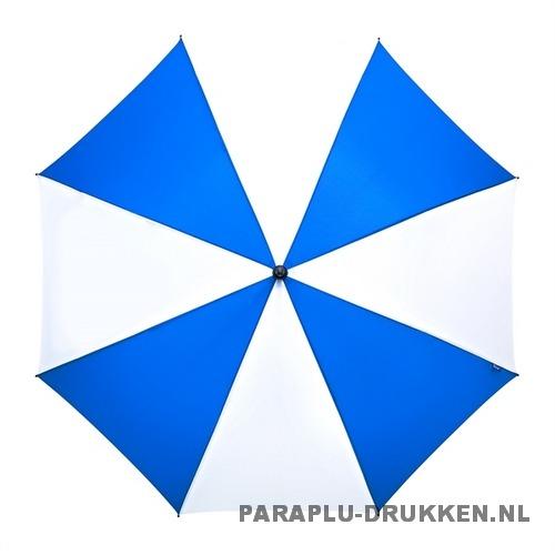 Luxe paraplu bedrukken GP-59 blauw wit golf automatisch