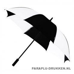 Luxe paraplu bedrukken GP-59 zwart wit golf