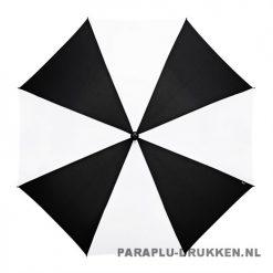 Luxe paraplu bedrukken GP-59 zwart wit golf automatisch