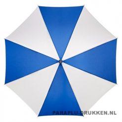 Luxe paraplu bedrukken LA-18 blauw wit budget