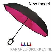Luxe paraplu bedrukken RU-6 andersom inklapbaar unieke paraplu